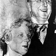 Dr. Norman Vincent Peale, And Wife Art Print by Everett