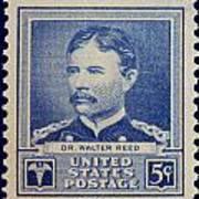 Dr Walter Reed Postage Stamp Art Print