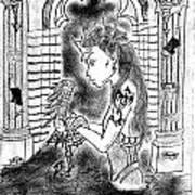 Dragon And The Dame Art Print