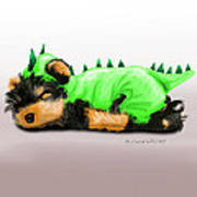Dragon Baby Yorkie Art Print