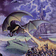 Dragon Combat Art Print