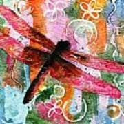 Dragonfly Fairy I Art Print