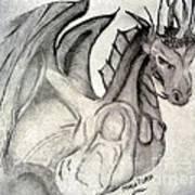 Dragonheart - Bw Art Print