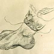 Drawing Class. Feet Art Print