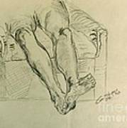 Drawing Class. Legs And Feet Art Print