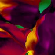 Dream Gardens - Tulip Petals - Shimmering Brights Art Print