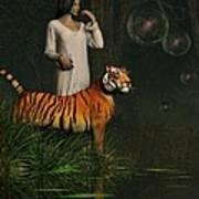 Dreams Of Tigers And Bubbles Art Print