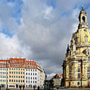 Dresden Church Of Our Lady And New Market Art Print