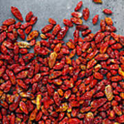 Dried Chili Peppers Art Print