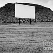 Drive In Movie Theater  Art Print