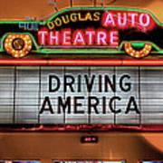 Driving America Douglas Auto Theatre Art Print