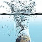 Drowning Earth, Conceptual Image Art Print