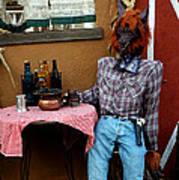 Drunk Werewolf Diner Art Print