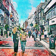 Dublin Grafton Street Art Print