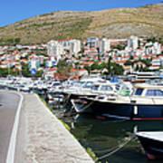 Dubrovnik Cityscape And Harbor Art Print