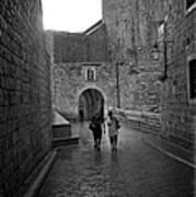 Dubrovnik In The Rain Art Print