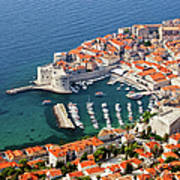 Dubrovnik Old City Aerial View Art Print