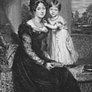 Duchess Of Kent & Victoria Art Print