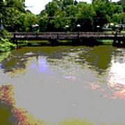 Ducktown Polarized River  Art Print
