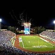 Duke Fireworks At A Packed Wallace Wade Stadium Art Print