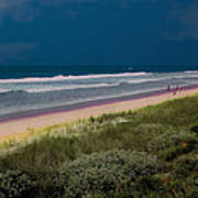 Dunes And Ocean Divided Art Print