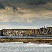 Dunstanburgh Castle On A Hill Under A Art Print