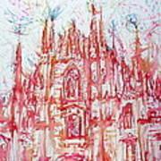 Duomo City Of Milan In Italy Portrait Art Print