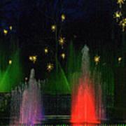 Dupont Gardens Singing Fountain Art Print