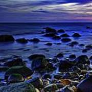 Dusk At Montauk Point Art Print