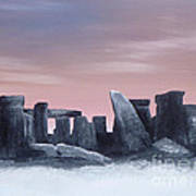 Dusk On The Winter Solstice At Stonehenge 1877 Art Print
