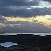 Dusk Panorama Of Skye Art Print