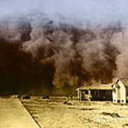 Dust Storm, 1930s Art Print