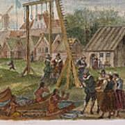 Dutch & Native American Trade Art Print