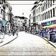 Dutch Shopping Street- Digital Art Art Print