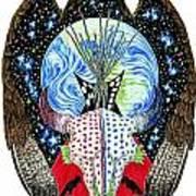 Eagle Tipi Art Print by Tim McCarthy
