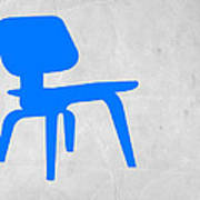 Eames Blue Chair Art Print by Naxart Studio