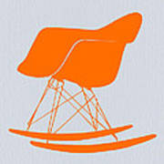 Eames Rocking Chair Orange Print by Naxart Studio