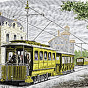 Early Electric Tram Art Print