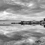 Early Morning At Inverary Black And White Version Art Print