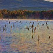 Early Morning Color Of Lake Wilhelmina-arkansas Art Print