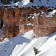 Early Morning Snow In Bryce Canyon Art Print