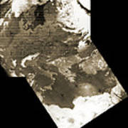 Early Weather Satellite Images Art Print