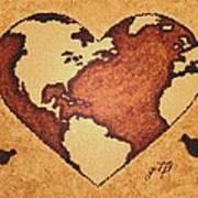 Earth Day Gaia Celebration Digital Art Art Print