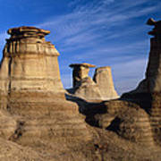 Earth Pillars (hoodoos) In Alberta Badlands Canada Art Print