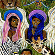 Earthangels Abeni And Adesina From Africa Art Print