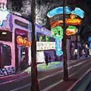East Fremont St Colors Art Print
