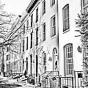 East Montgomery St  Balitmore Md  Art Print