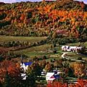 East Orange Village In Fall, Vermont Art Print
