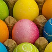 Easter Eggs Carton 2 A Art Print