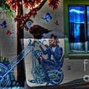 Easy Rider Mural Route 66 Art Print